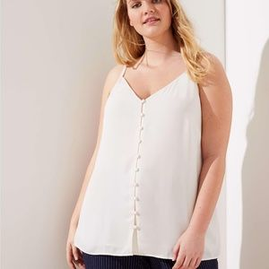 LOFT Plus Covered Button Down Cami Shell 3X 24 26